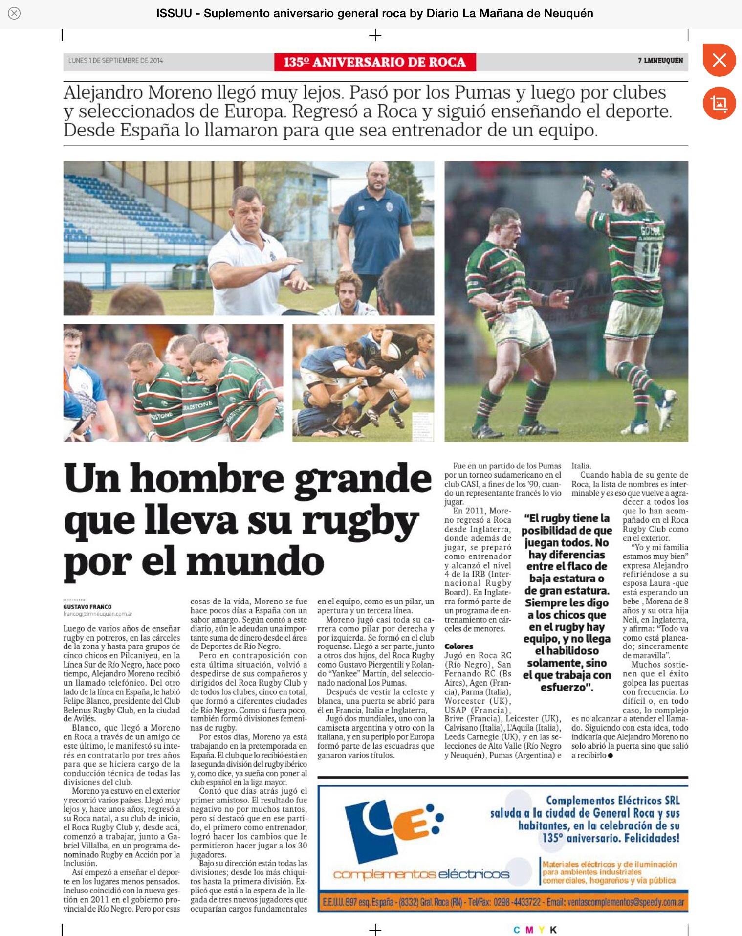Página Ale Moreno en prensa argentina